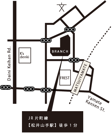 JR片町線【松井山手駅】徒歩1分